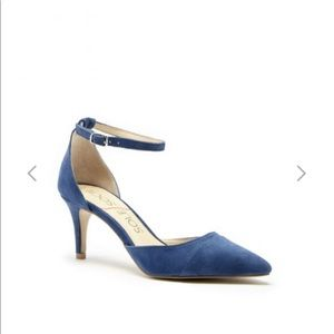 Indigo Suede Sole  Society Pump